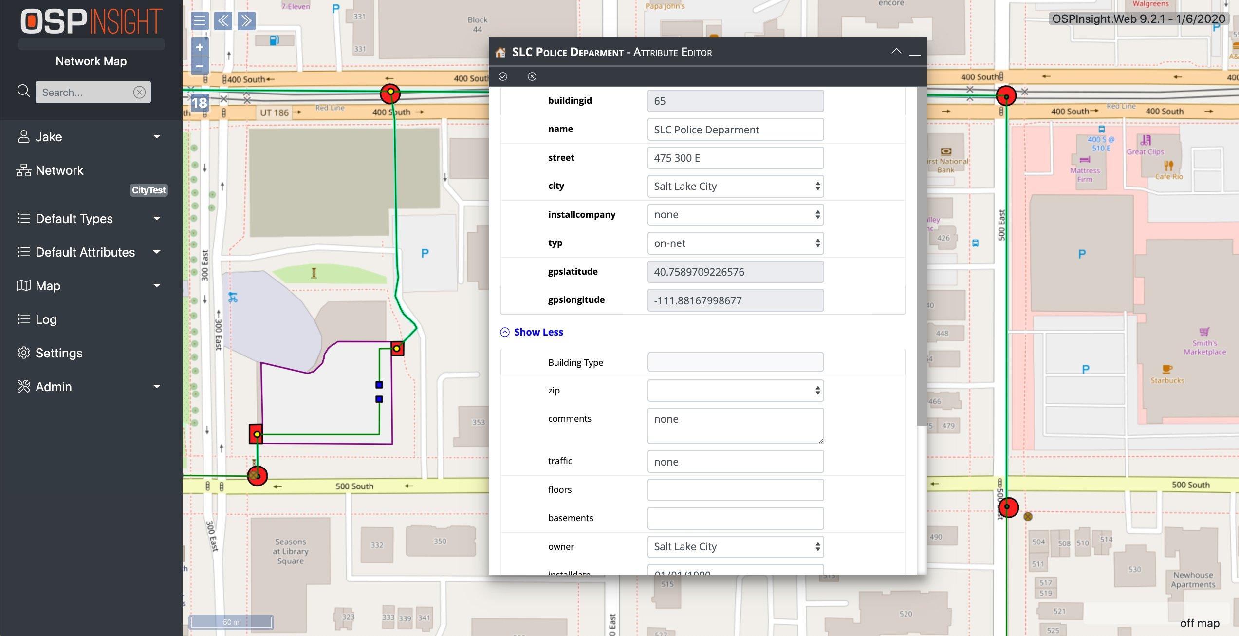 OSPInsight Web - Attribute Editor